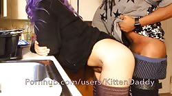 Doggystyle In The Kitchen And Almost Caught - KittenDaddy